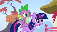 Twilight walking through Ponyville S1E13
