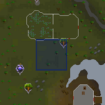 Runescape-Flax Field Sinkhole Location