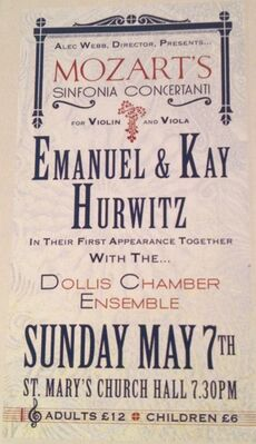 Emanuel&amp;KayHurwitzConcertPoster