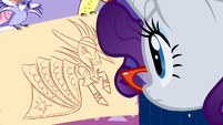 Birds showing a drawing to Rarity S1E14