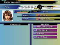 FFX Equipment Menu