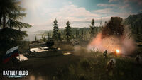 BF3 End Game CTF Kiasar Railroad Battle Screenshot