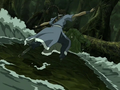 Katara fights Swamp Monster.png