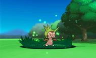 Chespin cargando Rayo Solar