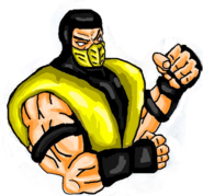 Mortal Kombat ll Arcade Art Scorpion