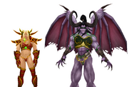 Illidan and Kael'thas in Sylvanas Alxstrasza Ysera Armor