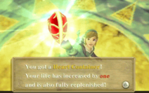 Link gets Heart Container (Skyward Sword)