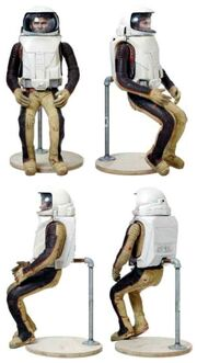 Thruster suit miniature various views