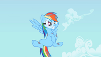 Rainbow Dash covered in debris S2E3
