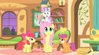Fluttershy looking at SB S1E17