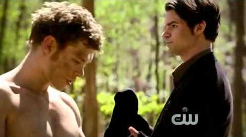 "The Vampire Diaries - 2x22 Klaus and Elijah Scene ""You wish to be reunited with our family"""