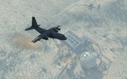 AC-130 flying over Dome MW3