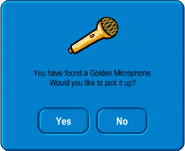 Golden Microphone Pick Up