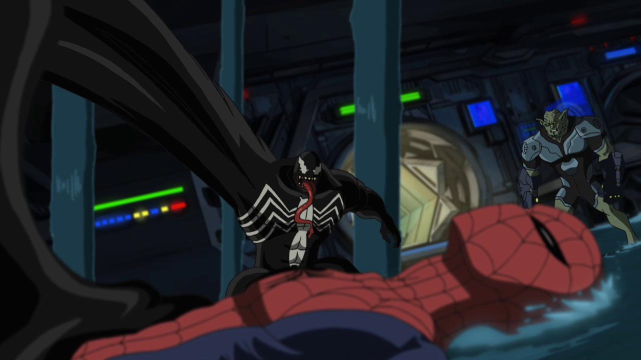 Ultimate Spider Man Goblin Venom Traffic Club