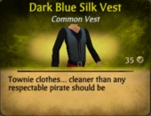 Dark Blue Silk Vest