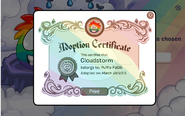 Adoption Certificate RP PP26