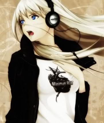 Three Word Stories Anime_Girl_-_Headphones_maximum_beat