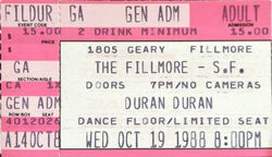 ANDY TAYLOR DURAN DURAN ticket 1
