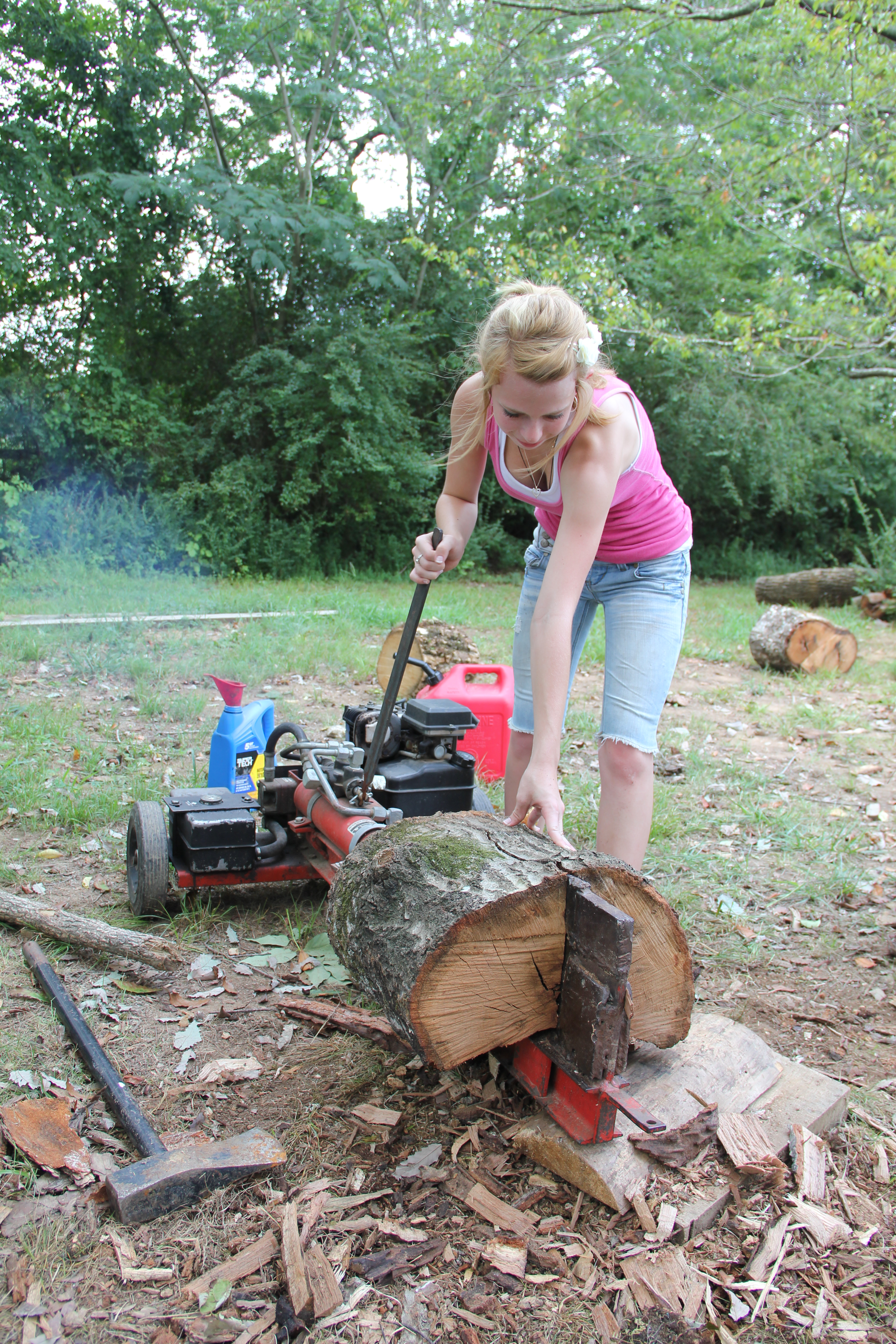 Homemade 3 Point Hydraulic Top Link : Log splitter tractor construction plant wiki the