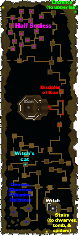 Map of Iban's Lair