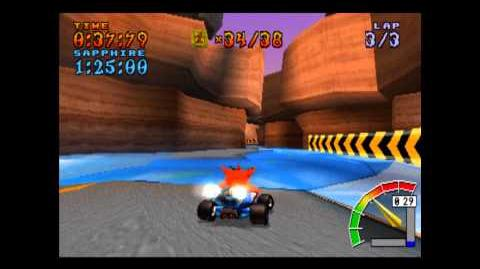 Dingo Canyon - Platinum Relic - Crash Team Racing - 101% Playthrough (Part 49)