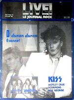 Live Le Journal Rock Magazine Canada (14 April 1984) wikipedia duran duran