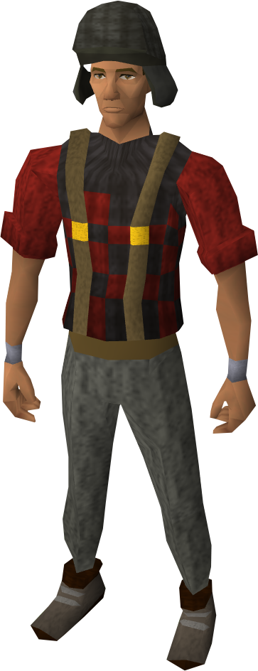 Lumberjack clothing (male) equipped