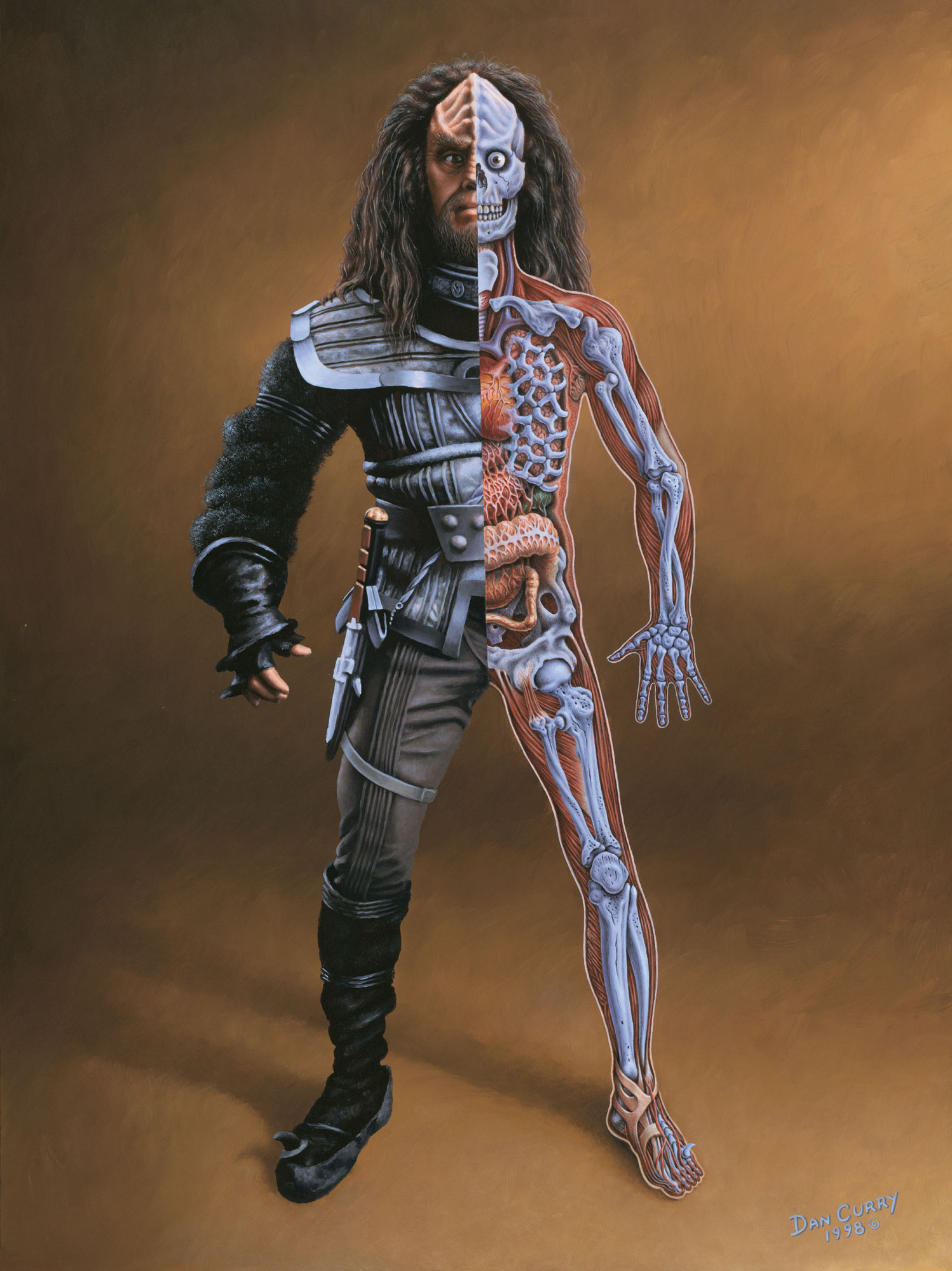 Klingon afflicted with the Augment virus The anatomy of a male Klingon    New Klingon Weapons
