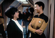 Nichelle Nichols and Mae Jemison