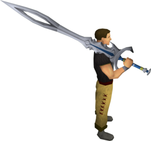 White 2h sword equipped