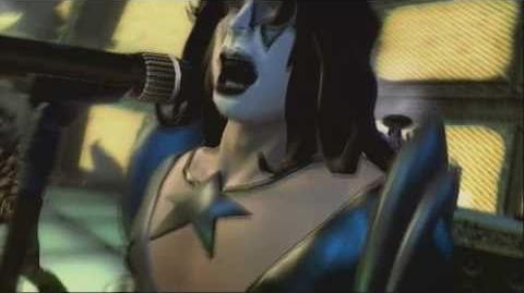 Guitar Hero 5 - Modern Day Delilah performance (custom Kiss characters)-0