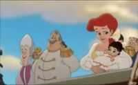 Ariel with her daguther melody