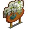 White Wisteria Bonsai Tree Mastery Sign-icon