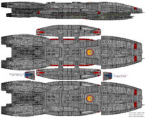 BS Galactica Galactica Type Block 1 Jupiter Class