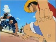 Luffy VS Morgan 2