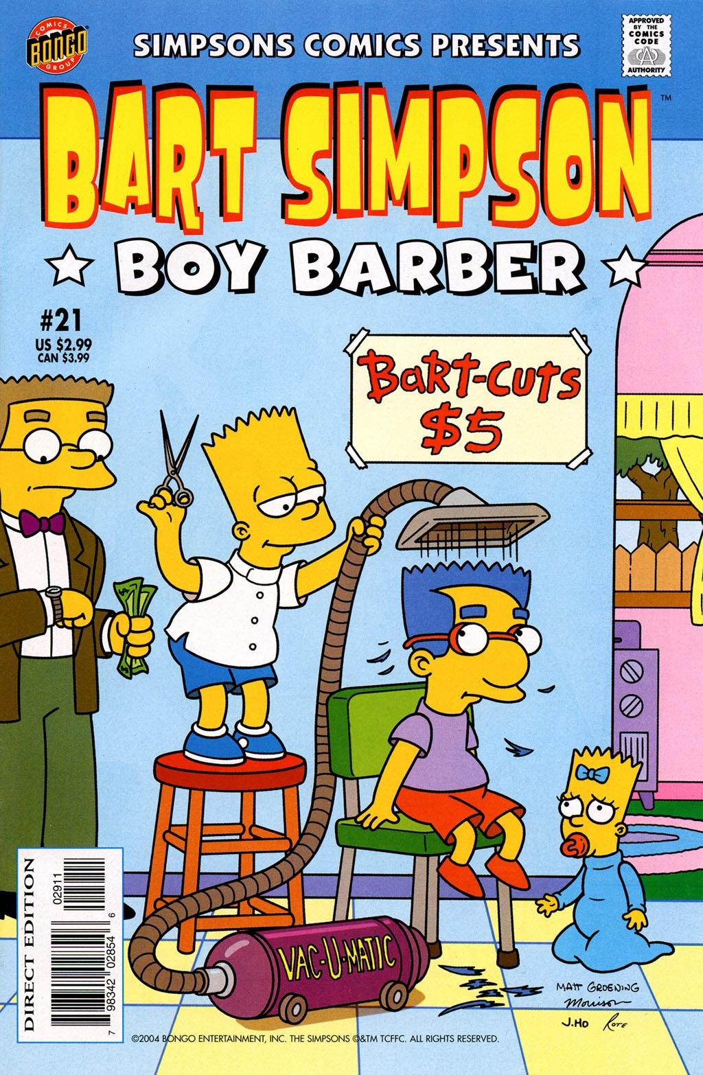 Barber Bart : Bart Simpson Comics 21 - Simpsons Wiki
