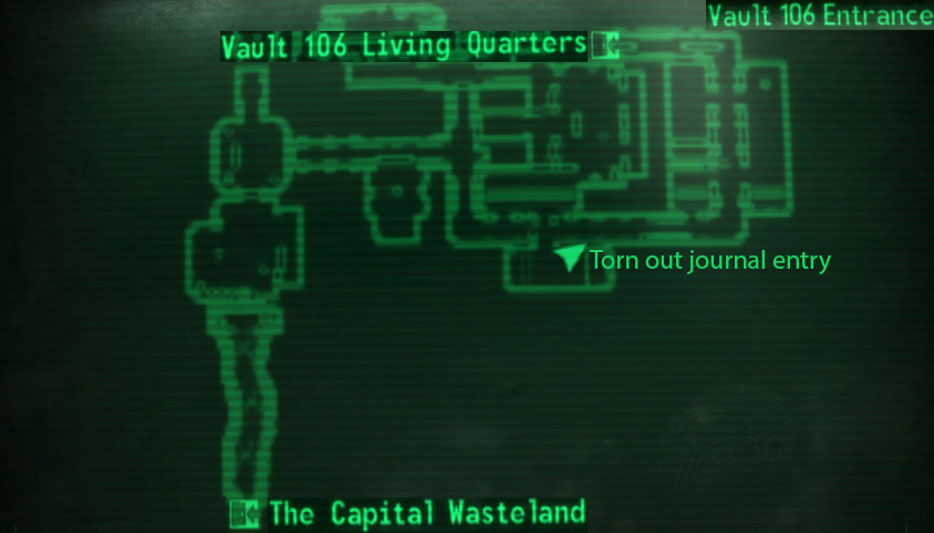 Vault 106 entrance loc