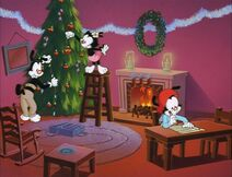 Wakko writes his letter to Santa