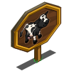 Black Shorthorn Cow Mastery Sign-icon