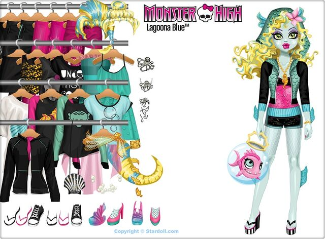 Dress up Games > monster high stardoll. Dress up Monster High's fish girl  lagoona blue. Monster High's Lagoona · There is a glamour party at Monster  High!