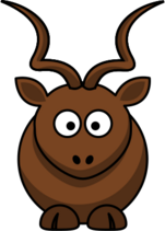 Cartoon kudu