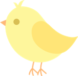 Bird yellow cute