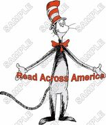 Read across america dr seuss t shirt iron on transfer