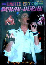 DURAN DURAN LIMITED EDITION MAGAZINE ISSUE 21 wikipedia poster