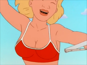 Luanne's Breasts in her Bathing Suit