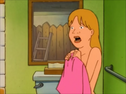Luanne screams after Khan sees her naked