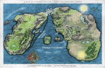 A Map of Middle-earth and the Undying Lands color
