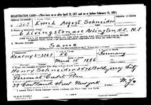 U.S. World War II Draft Registration Card 1942 for Emil August Schneider