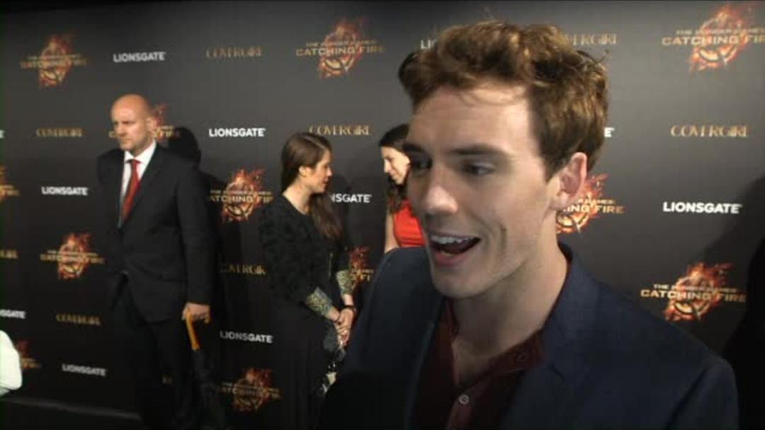 The Hunger Games Catching Fire - Sam Clafin Red Carpet