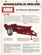 MM LO-100 manure spreader brochure - 1966